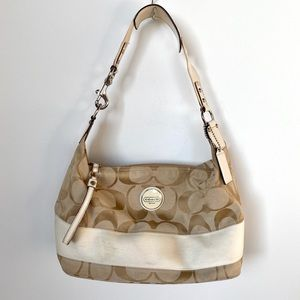 Coach Beige Hobo Handbag